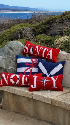 Christmas + Nautical pillows!