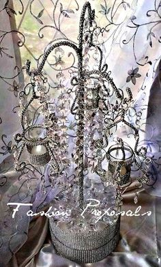 Bling Candelabra Bling Chandelier Centerpiece by FashionProposals, $55.00