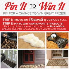 LAST CHANCE to enter our #PinittoWinIt #Sweepstakes! Enter to #win by repinning any of our luxurious #home or #pet mats!