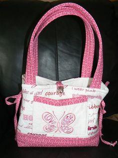 """Fight Like a Girl"" handbag for Breast Cancer Awareness"