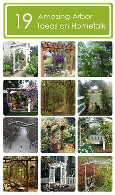 19 amazing arbor ideas on Hometalk: http://www.hometalk.com/b/585151/arbour-amazingness