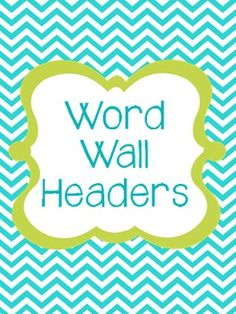 Need to update my classroom Word Wall!!  Blue/Green/White Letters & Numbers that match my classroom decor!