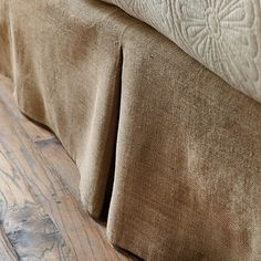Ballard Basic Tailored Bedskirt in burlap or natural linen for boys beds.  in queen $60.00 each