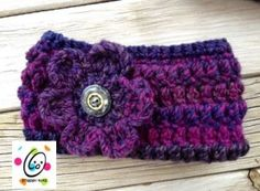 snappy band adjustable headband. Free crochet pattern.