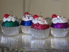 Handmade Cupcake Ornaments