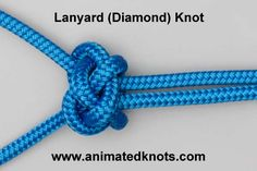 Animation: FRIENDSHIP KNOT, Lanyard (Diamond) Knot Tying (Decorative), Also has app for phone.