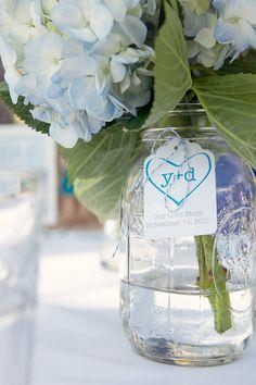 Tags on the mason jars