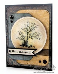 this would be a great guy card stamp, craft, halloween cards, halloweencard, masculine cards, trees, cards halloween, happy halloween, spooki tree