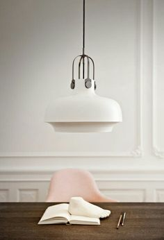 interior, pendants, copenhagen pendant, modern lighting, soft pink, pale pink, lamp, pendant lights, design