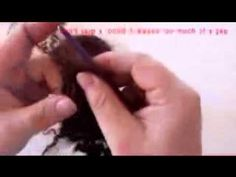 how to make a wefted mohair wig  by Gabi, from Fairywool Dolls