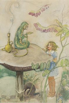 """Helen Jacobs - """"Alice and the Caterpillar"""" by sofi01, via Flickr"""