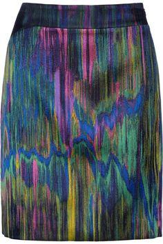 Silk organza trimmed jacquard pencil skirt by Chalayan