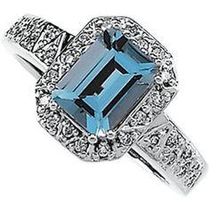 14K White Gold Aquamarine & Diamond Ring (Jewelry)  http://www.picter.org/?p=B000OX7IQW