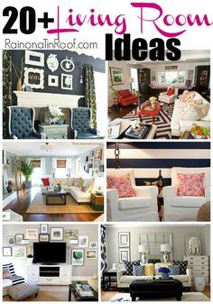 living room idea, farmhouse living room decor