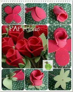 DIY foam roses / Rosas goma eva