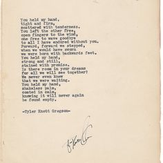 Belated Wedding Gift Poem : ... Late 1890s published date. The page he typed our poem on was one of