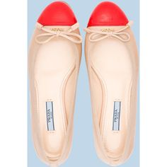Prada Ballerinas in beige and coral - perfect