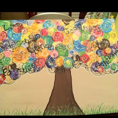 vbs fruit of the spirit, hallways, spirit tree, trees, art room, tree art, collabr art, fruits of the spirit crafts, art projects