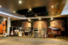 If I were a millionaire, something like what my home recording studio would look like ;) - CS