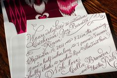 custom calligraphy birth announcement from my friend Callie at Calliespondence in atlanta.
