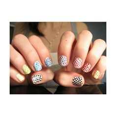 Polka-dot nails in every color for summer!