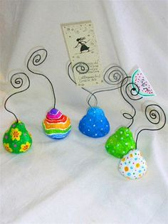 Paper mache Pears with a message/paper Mache ,wire