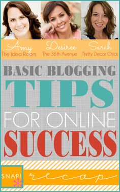 Basic Blogging Tips for Online Success over at the36thavenue.com