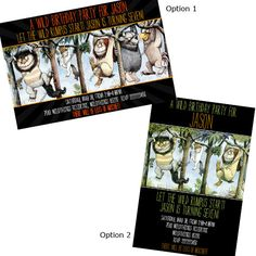 Where The Wild Things are invitations!