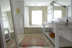 Love this set up for the bathroom.  from DesigntoInspire