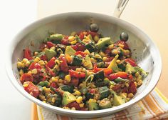 Fresh Corn Saute with Tomatoes, Squash, and Fried Okra - Bon Appétit
