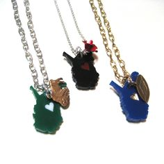 West Virginia Love Necklace - Your Choice - Marshall University or Black with Red Heart. $18.00, via Etsy.
