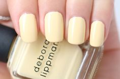 Manicure Monday: Deborah Lippmann Build Me Up Buttercup #showofhands
