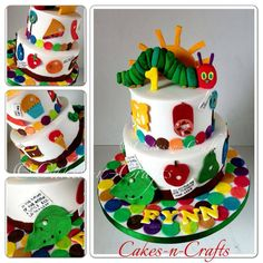 The Hungry Caterpillar Birthday Cake by Crafts-n-Cakes, Glasgow, United Kingdom. You'll find this Cake Appreciation Society Member in our Directory at www.cakeappreciationsociety.com