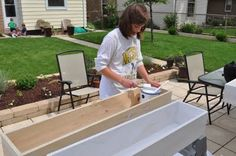 How to build window boxes.
