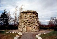 Culloden Cairn.. Monument for the Battle of Culloden Scotland