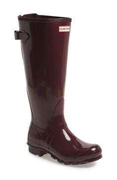 Can't wait to splash in puddles with these burgundy Hunter rain boots.