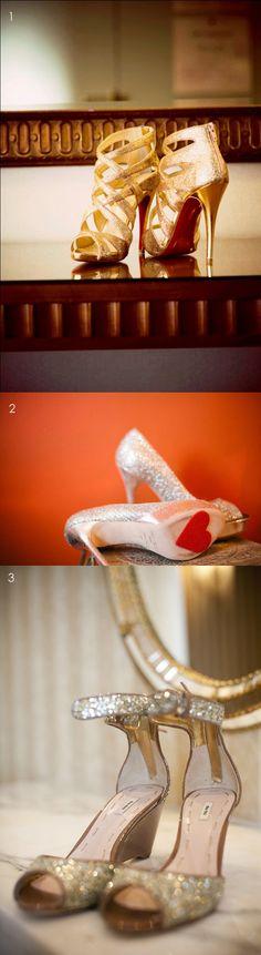 metallic bridal shoes ideas    #pumps #wedding #heels #platforms #bride #shoes.  Visit http://fashionartist.org/.  Like share and repin .