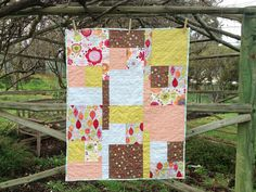 Leaves and Flowers Cot Quilt