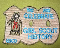 Girl Scouts Colorado 100th Anniversary patch. 1912 2012 Celebrate Girl