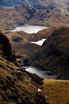 Lagunas de páramo del Ángel, en la provincia del Carchi, al norte del Ecuador.