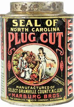 Plug Cut Tobacco Tin