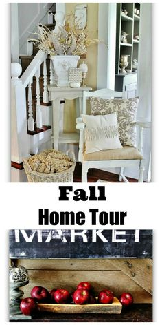 Love this fall home tour!  Full of vintage projects and ideas and ways to decorate for fall!
