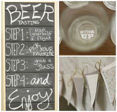 30th Birthday Bash – Beer Tasting Party Ideas. Fun decoration pieces that add a little extra touch to the party. #peartreegreetings #partyideas