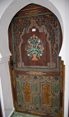 Beautifully painted wood #door. Morocco