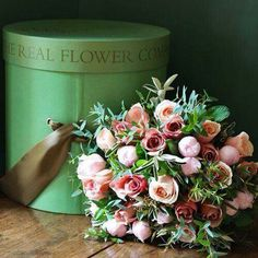 Hat box and roses