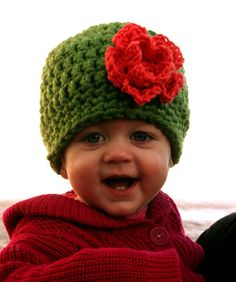 Chunky Flower Hat for baby toddler or child by jamieinthesky, $26.00
