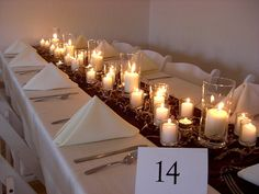 Red and White Wedding Candle Centerpiece Ideas