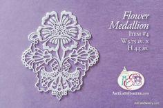 Elegant edible lace for wedding or birthday cake designs