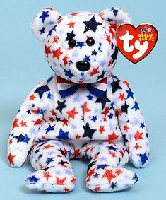 Red, White & Blue - bear - Ty Beanie Babies