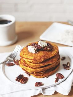 Pumpkin Pancakes With Maple Pecan Compound Butter - Free People Blog